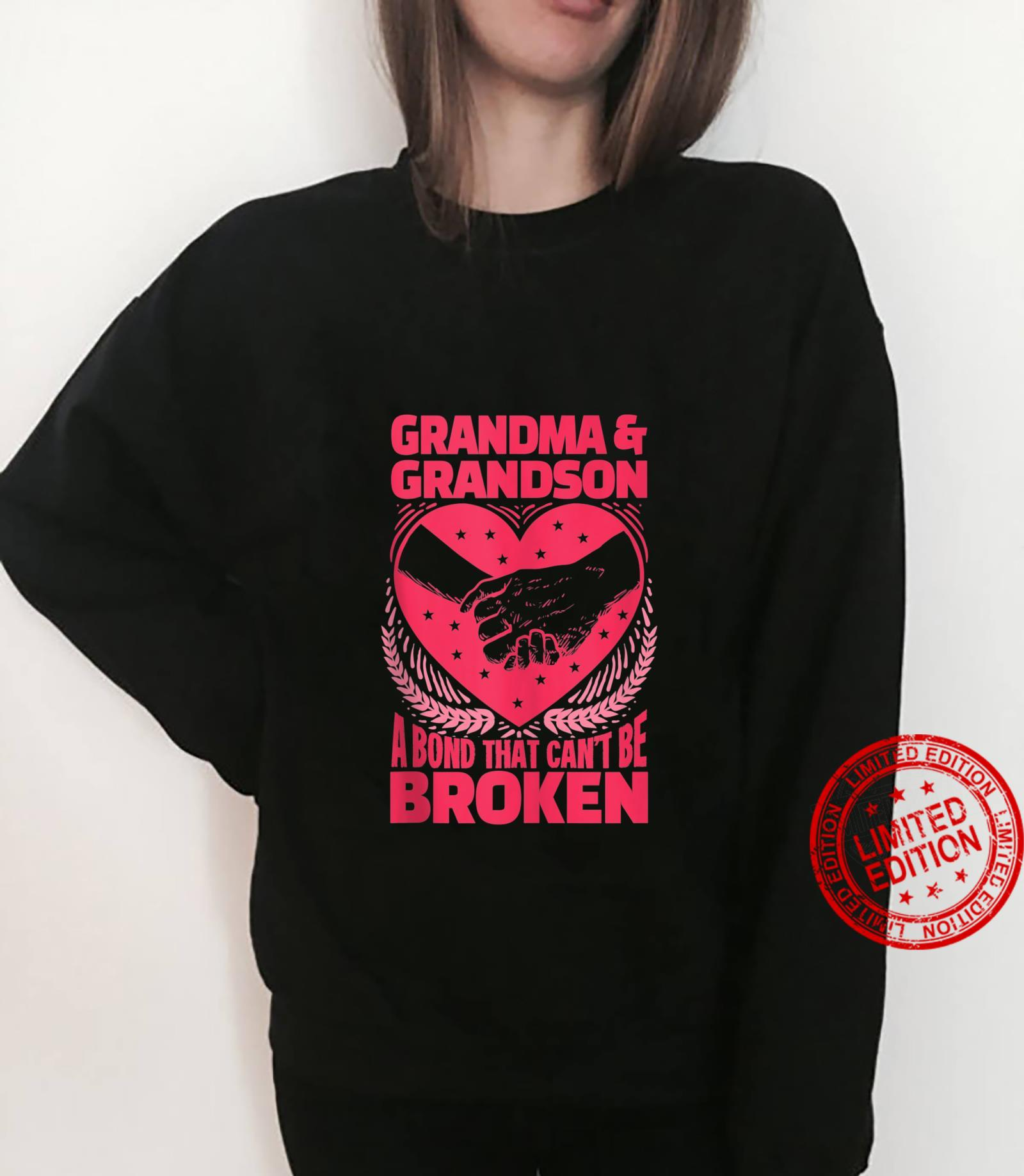 Funny Grandma And Grandson A Bond That Can't Be Broken Shirt sweater
