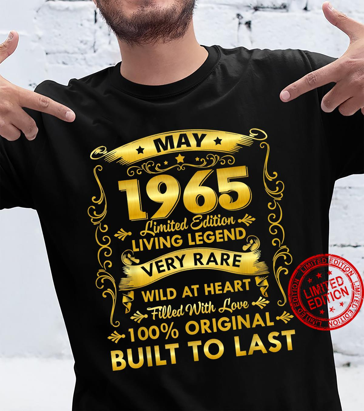Gift,women, Born In May 1965 Vintage 56th Bday Shirt