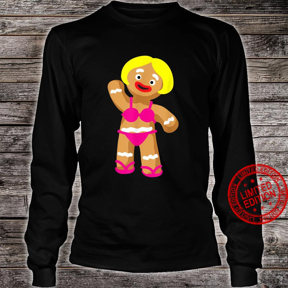 Gingerbread in Bikini Christmas in July Party Shirt long sleeved
