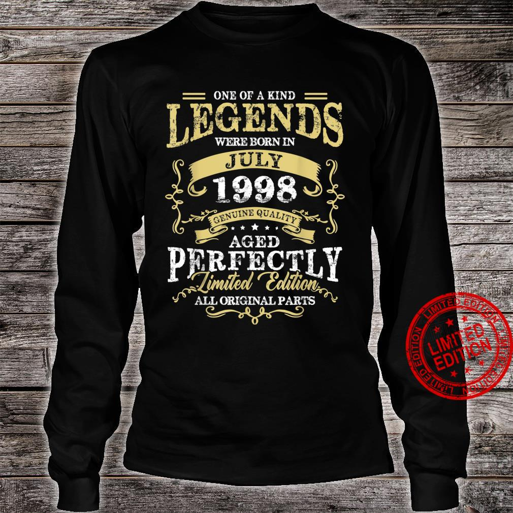 Legend Born July 1998 23rd Birthday For 23 Years Old Shirt long sleeved