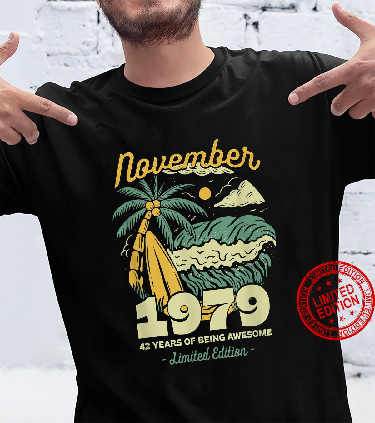 November 1979 42 Years of Being Awesome Birthday Vintage Shirt
