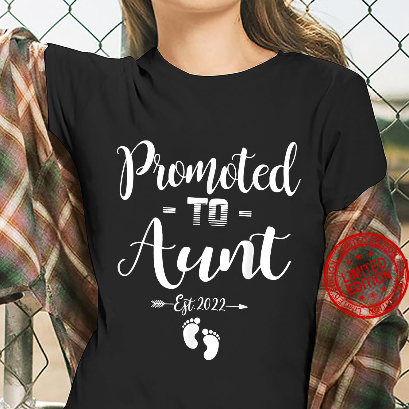 Promoted To Aunt Est 2022 Soon To Be Aunt Shirt ladies tee