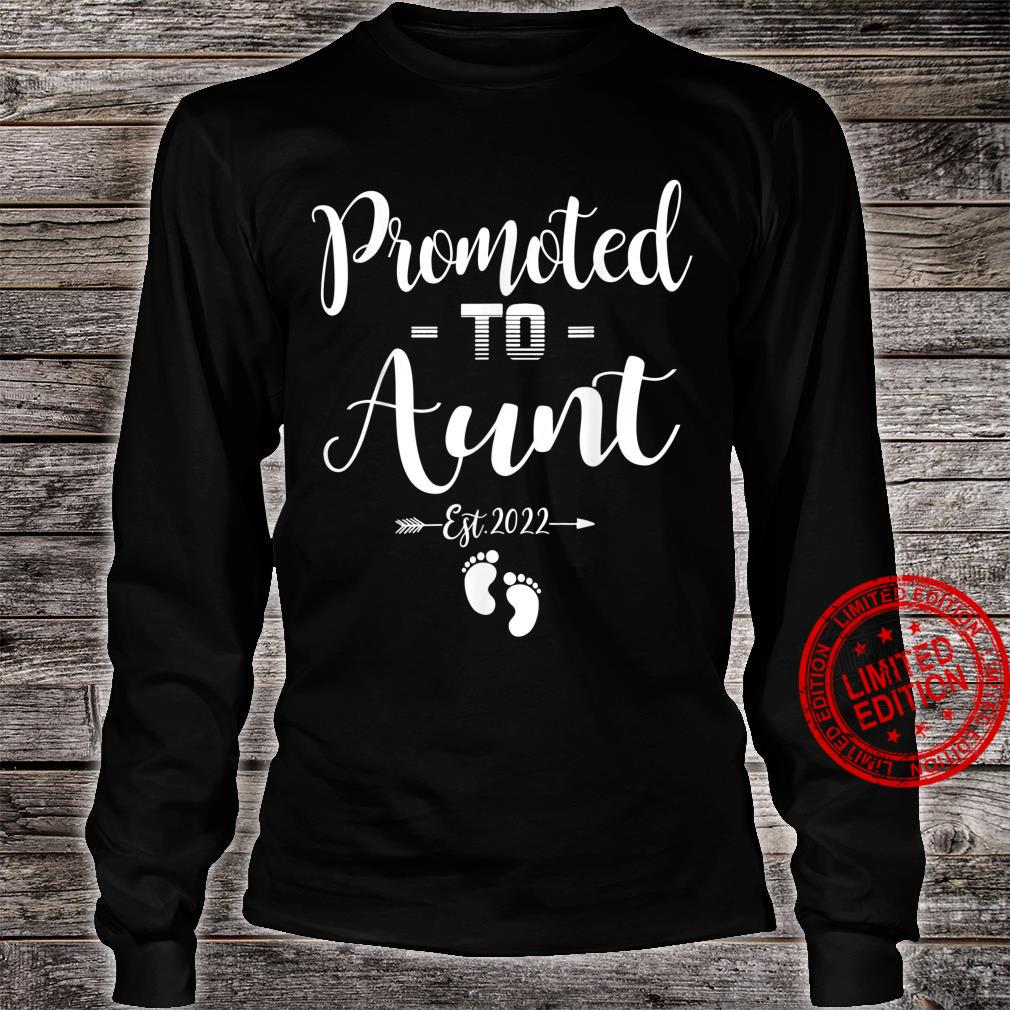 Promoted To Aunt Est 2022 Soon To Be Aunt Shirt long sleeved