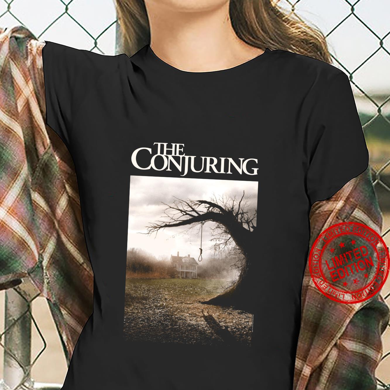 The Conjuring Color Poster Shirt ladies tee