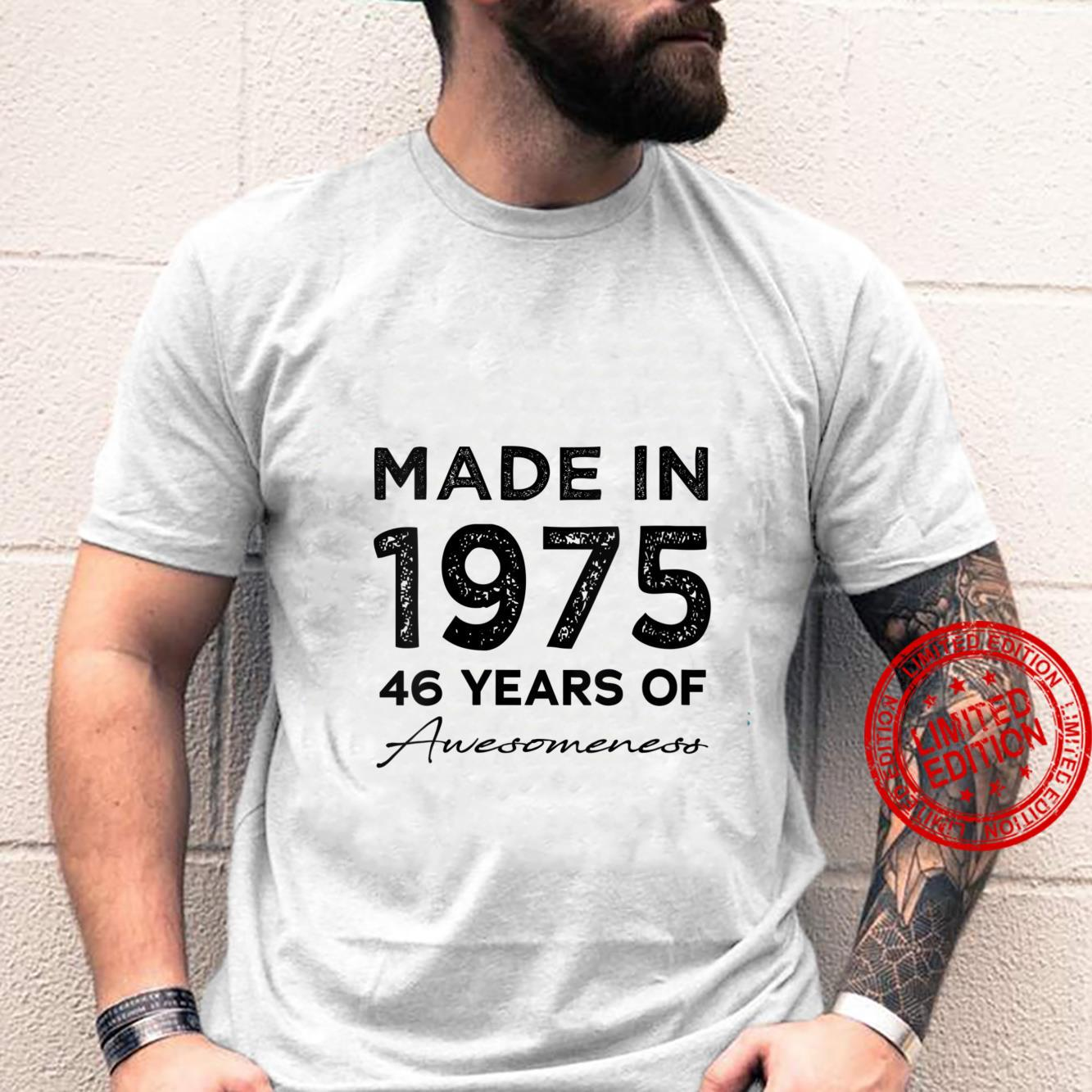 Womens Made In 1975 46th Birthday 46 Years Old Shirt