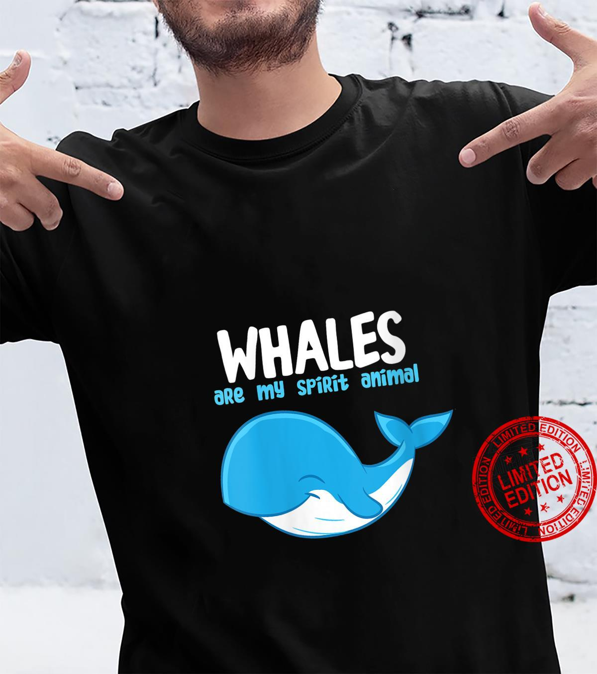 Womens Whales Are My Spirit Animals Whale Shirt