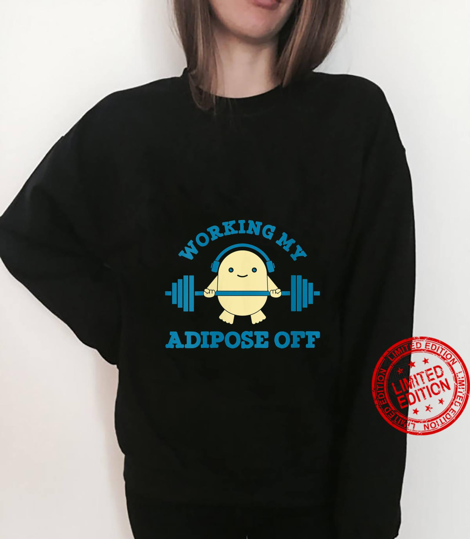 Womens Working My Adipose Off Workout Bodybuilder Cool Shirt sweater