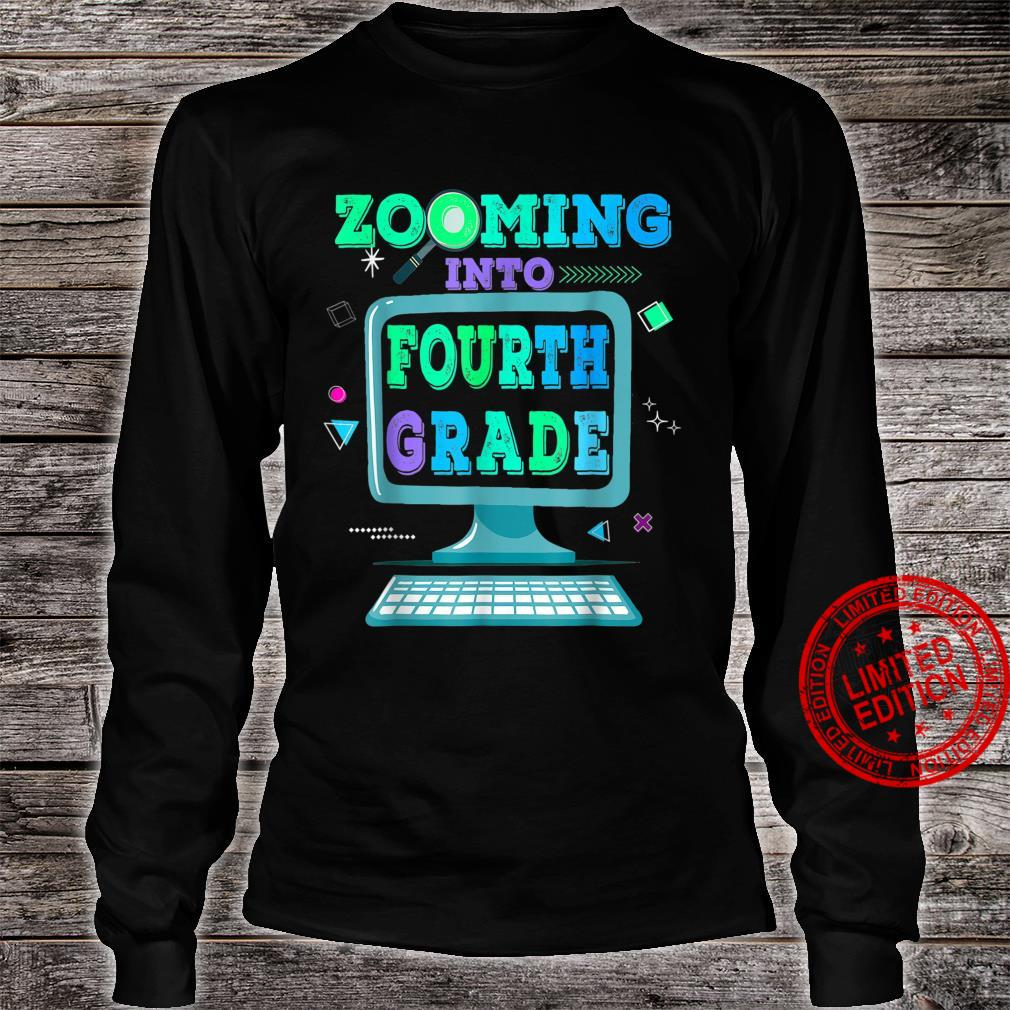 Zooming Into 4th Fourth Grade Virtual Back to School Shirt long sleeved