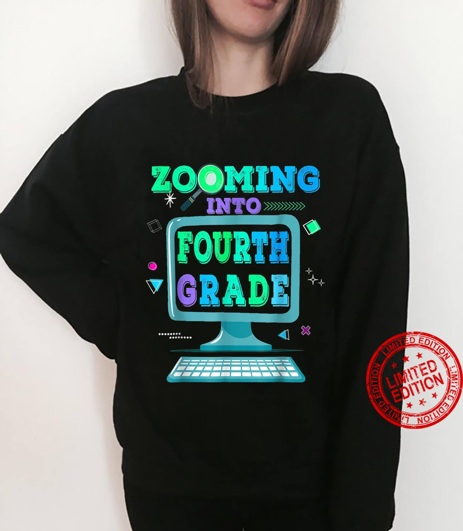 Zooming Into 4th Fourth Grade Virtual Back to School Shirt sweater