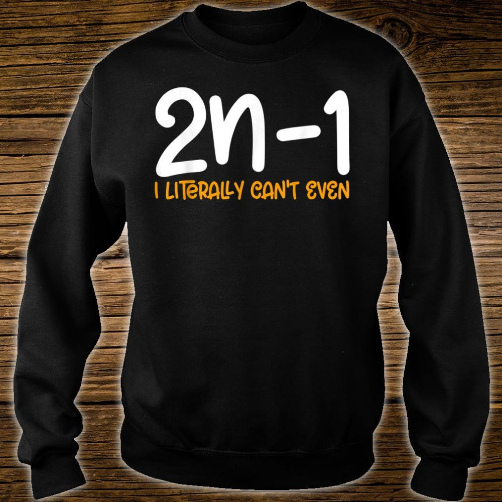 2n1 I literally can't even Formula Math Mathematics Shirt sweater