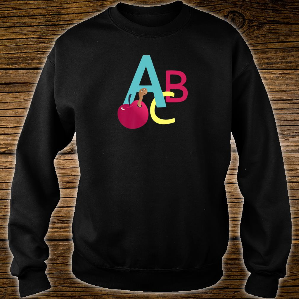 A is for Apple ABC letters school start learning Shirt sweater