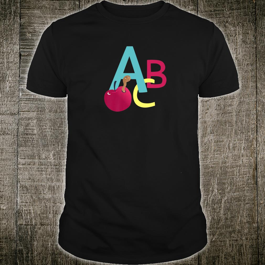 A is for Apple ABC letters school start learning Shirt