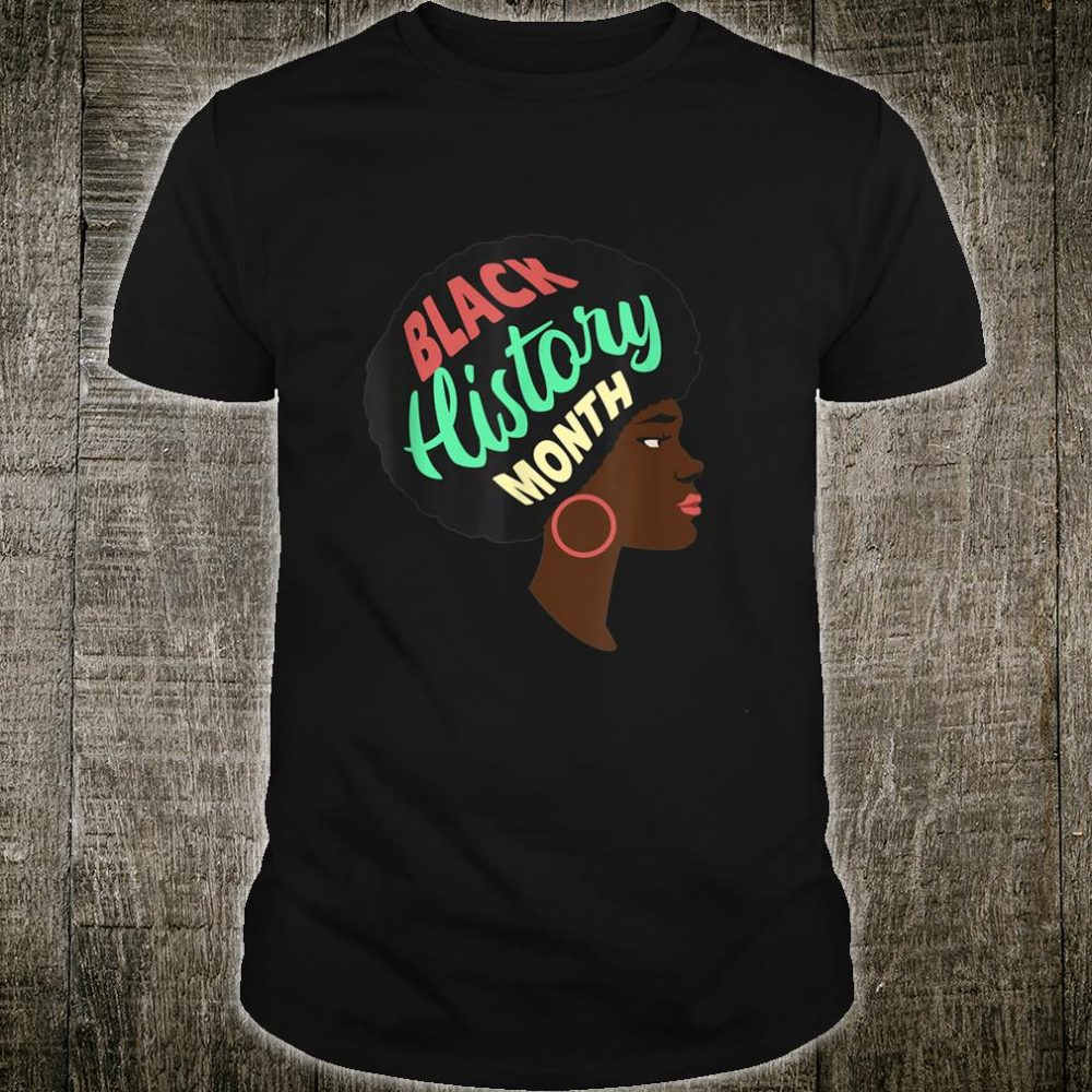 AMERICAN PRIDE BLACK HISTORY MONTH AFRO Shirt