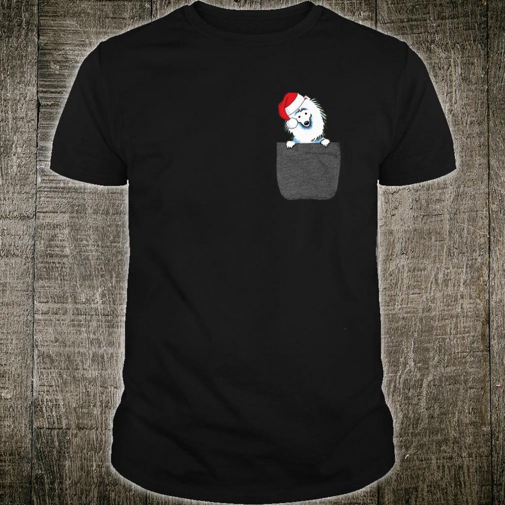American Eskimo Santa Hat In Your Pocket Christmas Shirt