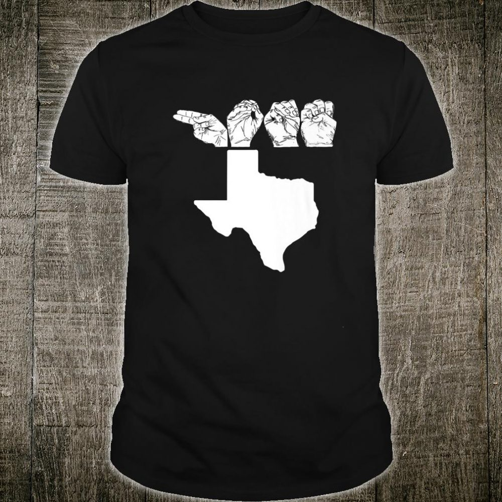 American Sign Language, ASL Texas TX, Home print Shirt