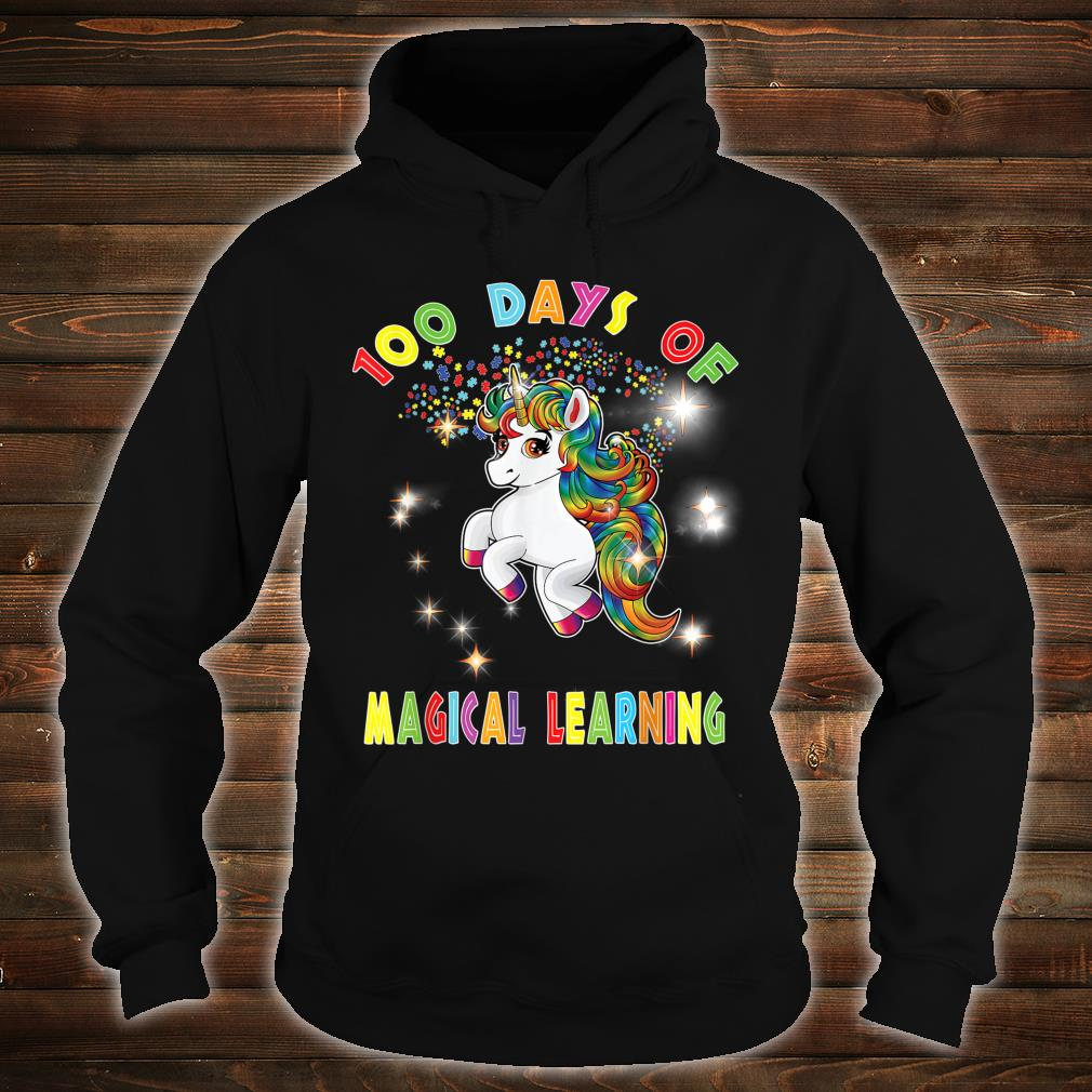 Autism Awareness 100 Days of Magical Learning School Teacher Shirt hoodie