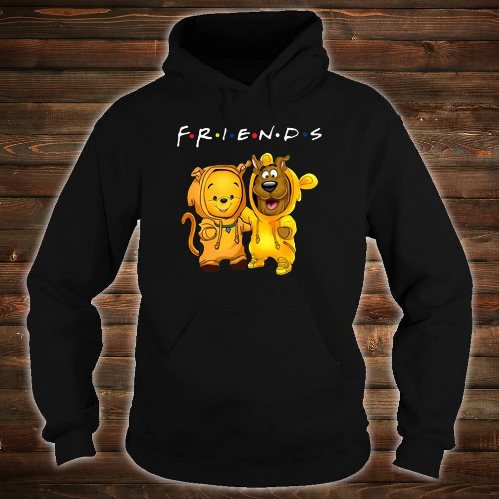 Baby Pooh and baby Scooby Doo friends shirt hoodie