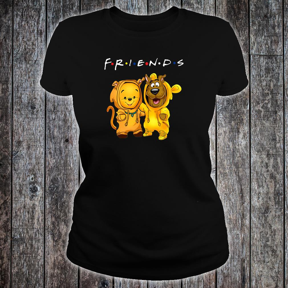 Baby Pooh and baby Scooby Doo friends shirt ladies tee