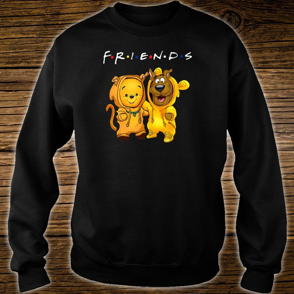 Baby Pooh and baby Scooby Doo friends shirt sweater