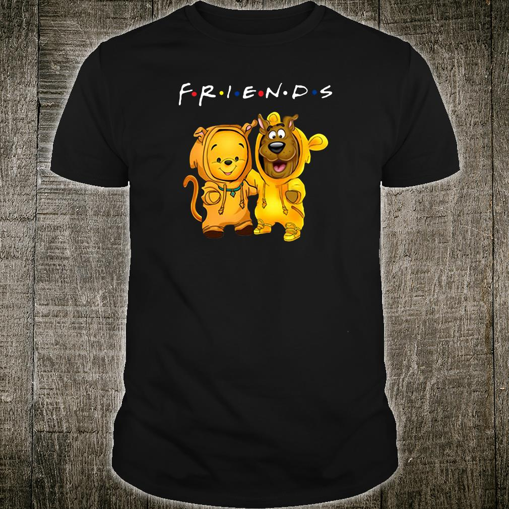 Baby Pooh and baby Scooby Doo friends shirt