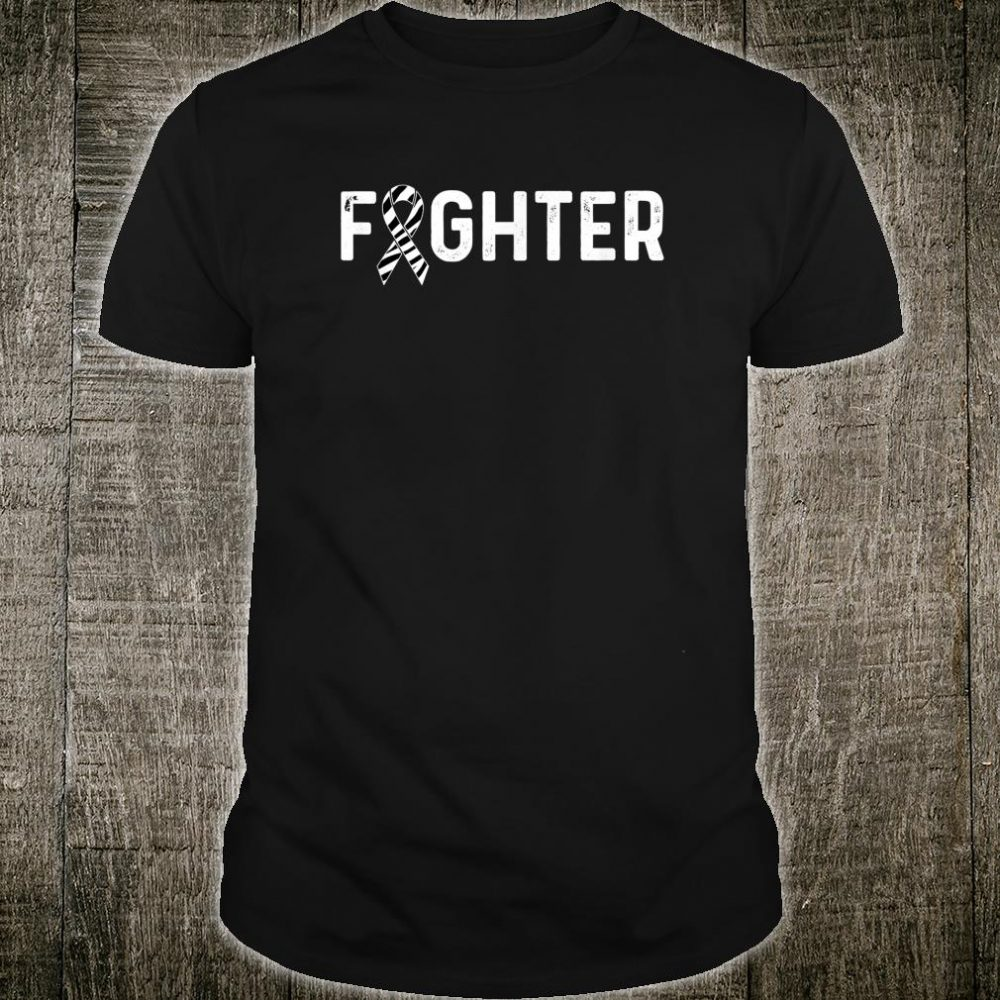 Carcinoid Cancer Awareness Products Zebra Ribbon Fighter Shirt