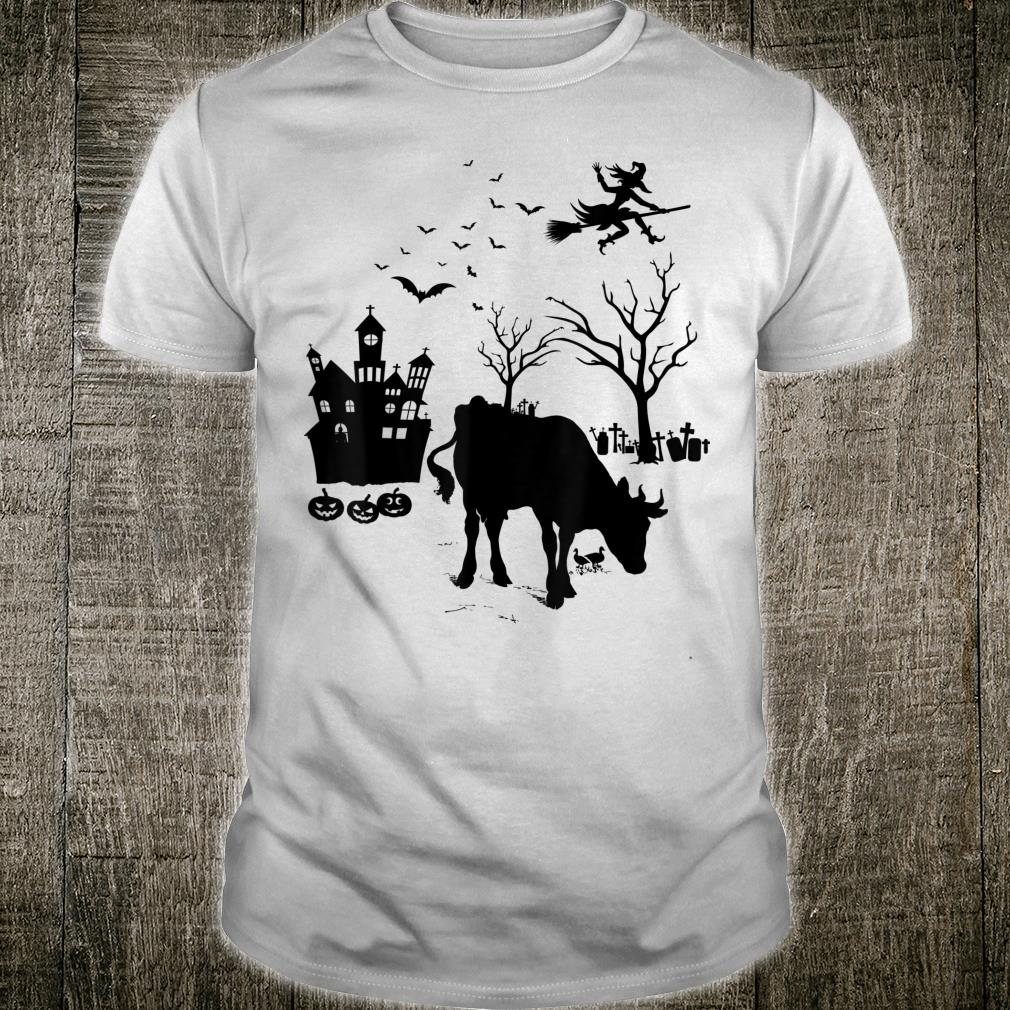 Cattle Spooky Halloween Creepy Bulls Oxen Cows Farmer Shirt
