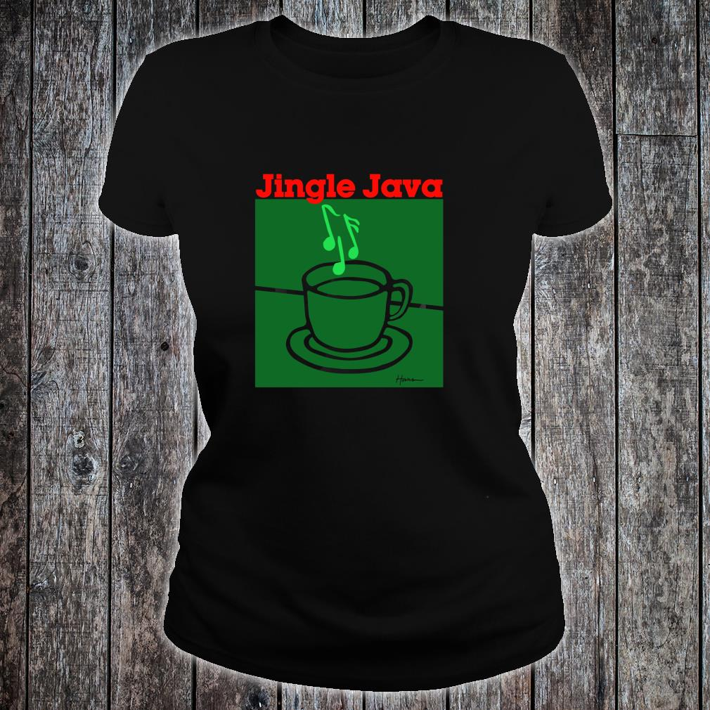 Christmas Coffee for a Sleigh Bells Shirt ladies tee