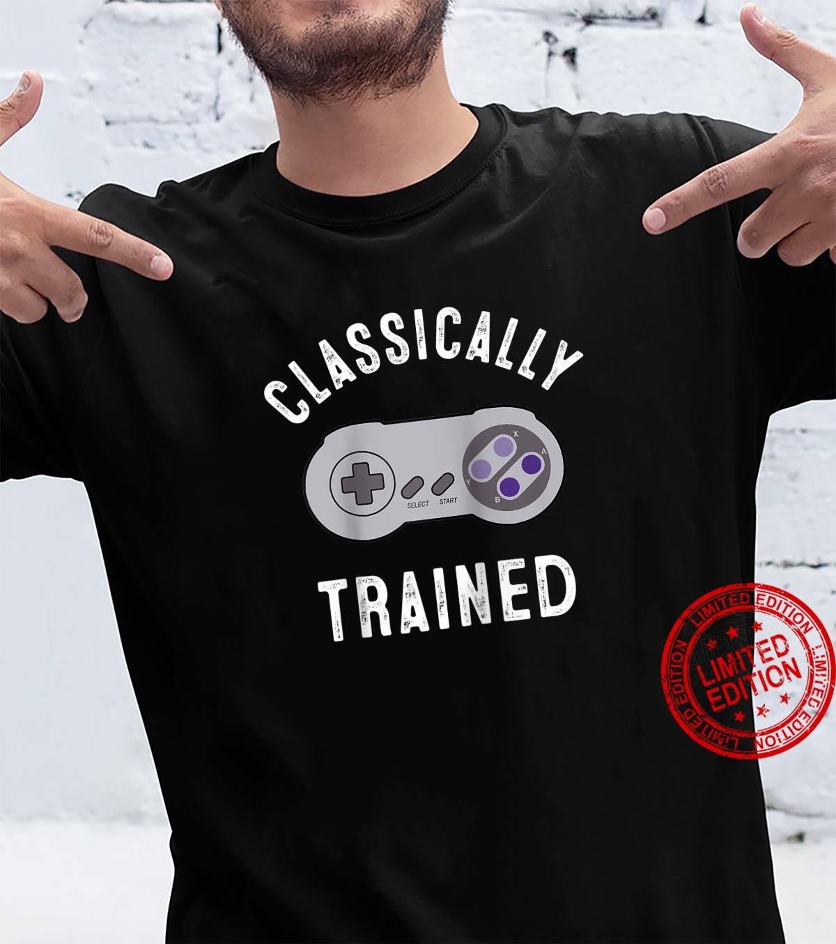 Classically Trained Video Game Controller Gamer Shirt