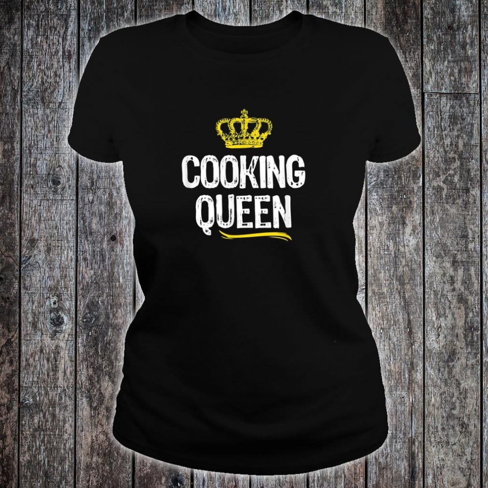 Cooking Queen Girls Chef Cook Cool Cute Shirt ladies tee