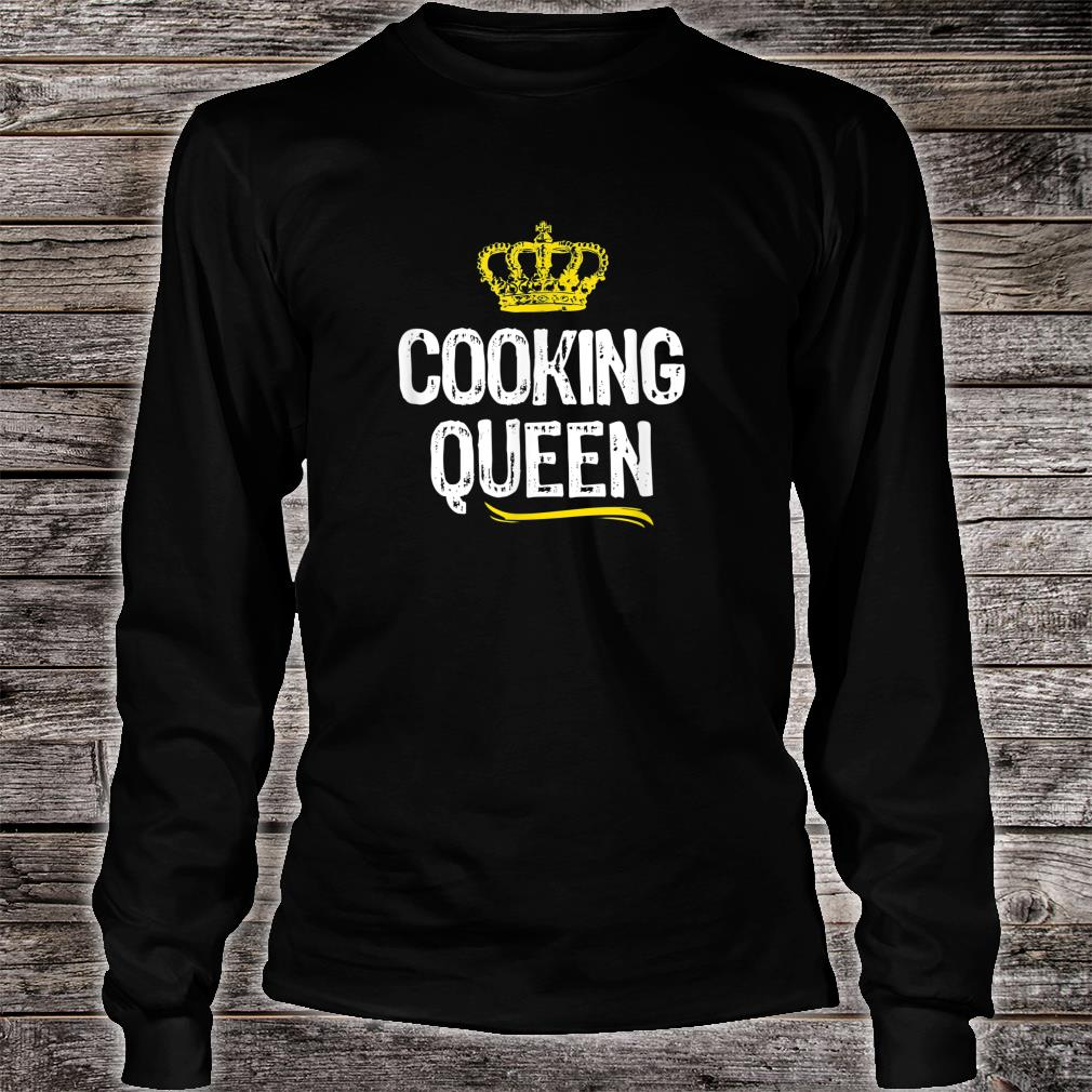 Cooking Queen Girls Chef Cook Cool Cute Shirt long sleeved