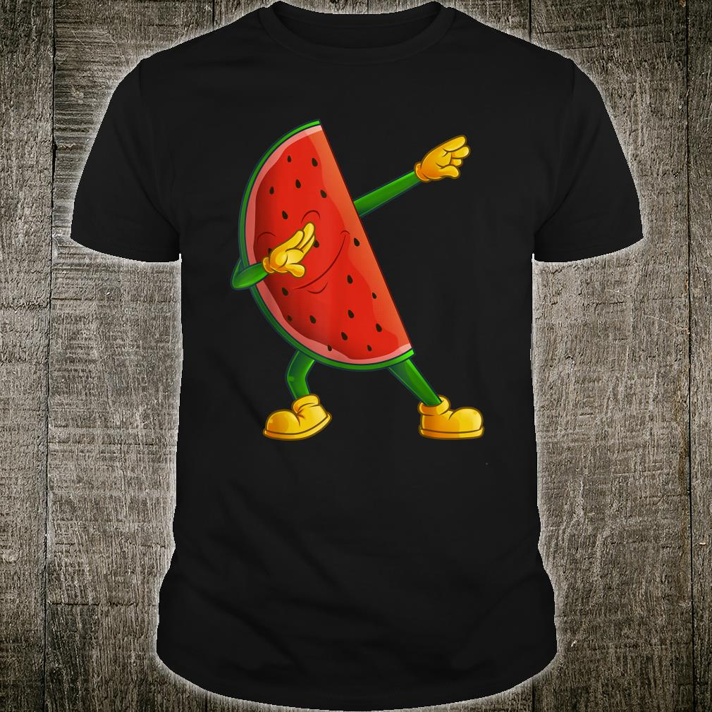 Cool Dabbing Watermelon Fruit Dancing Athlete Dab Shirt