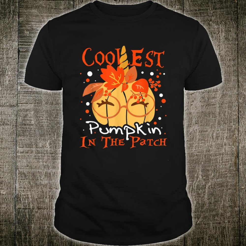 Coolest Pumpkin In The Patch Halloween Shirt