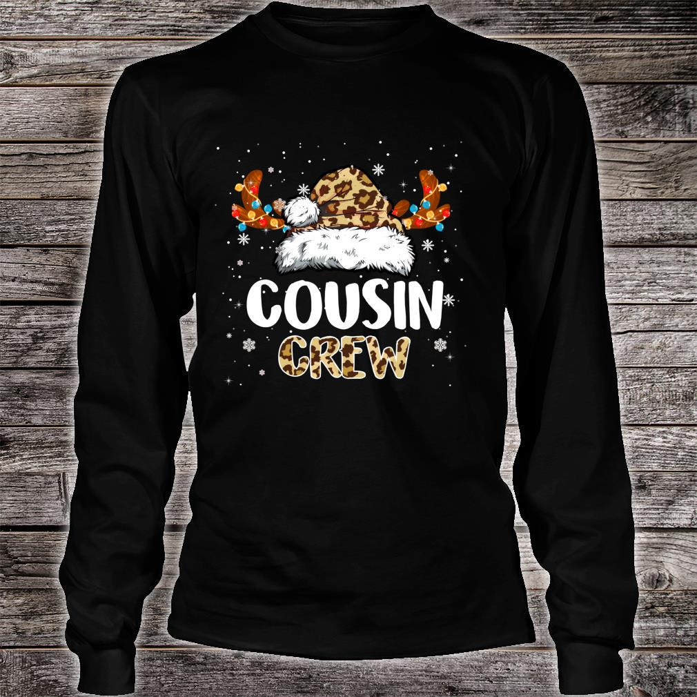Cousin Crew Santa Hat Reindeer Antler Christmas Costume Shirt long sleeved