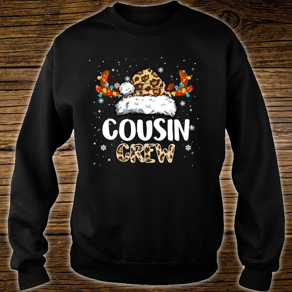 Cousin Crew Santa Hat Reindeer Antler Christmas Costume Shirt sweater