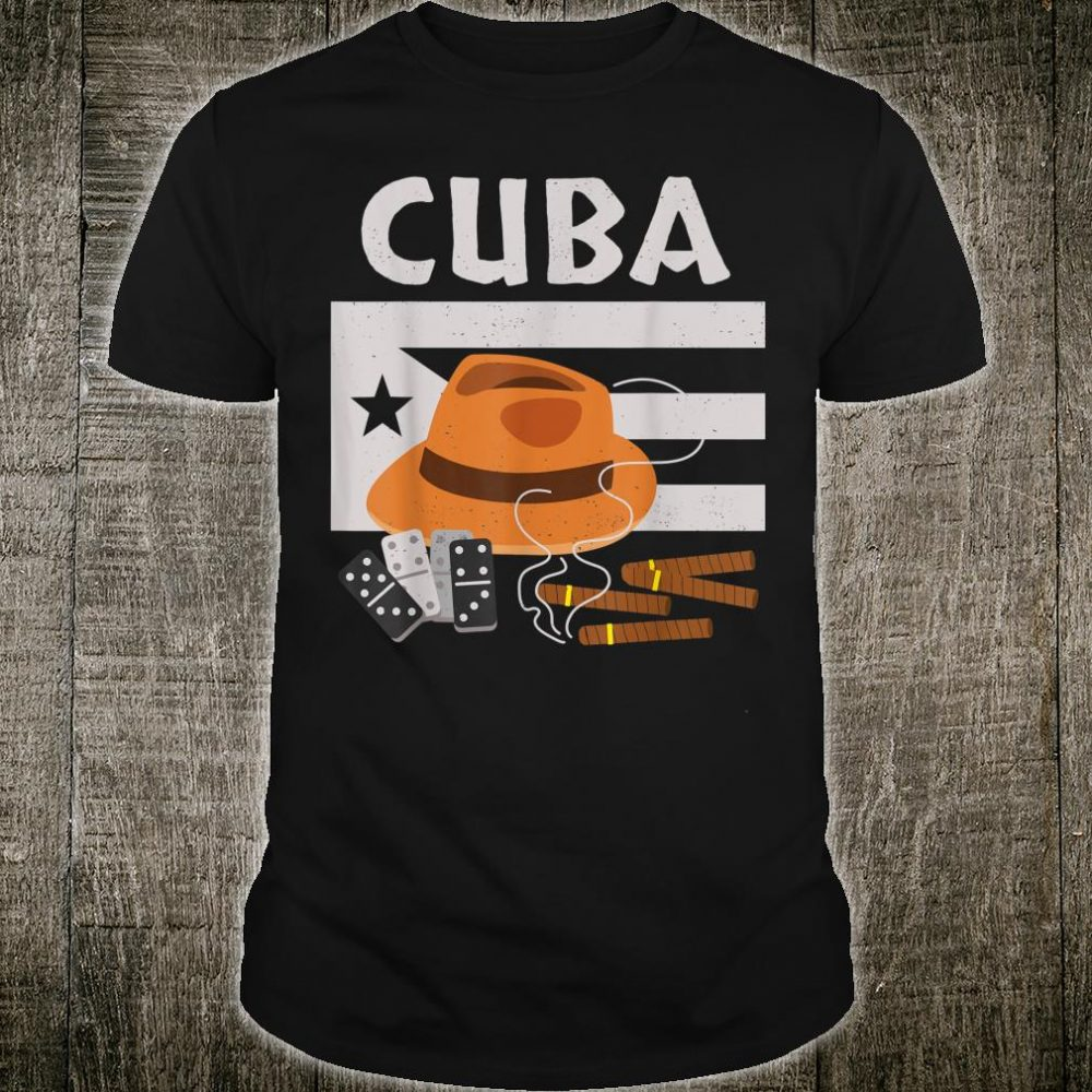 Cuba Cigars Fedoras and Dominos Shirt
