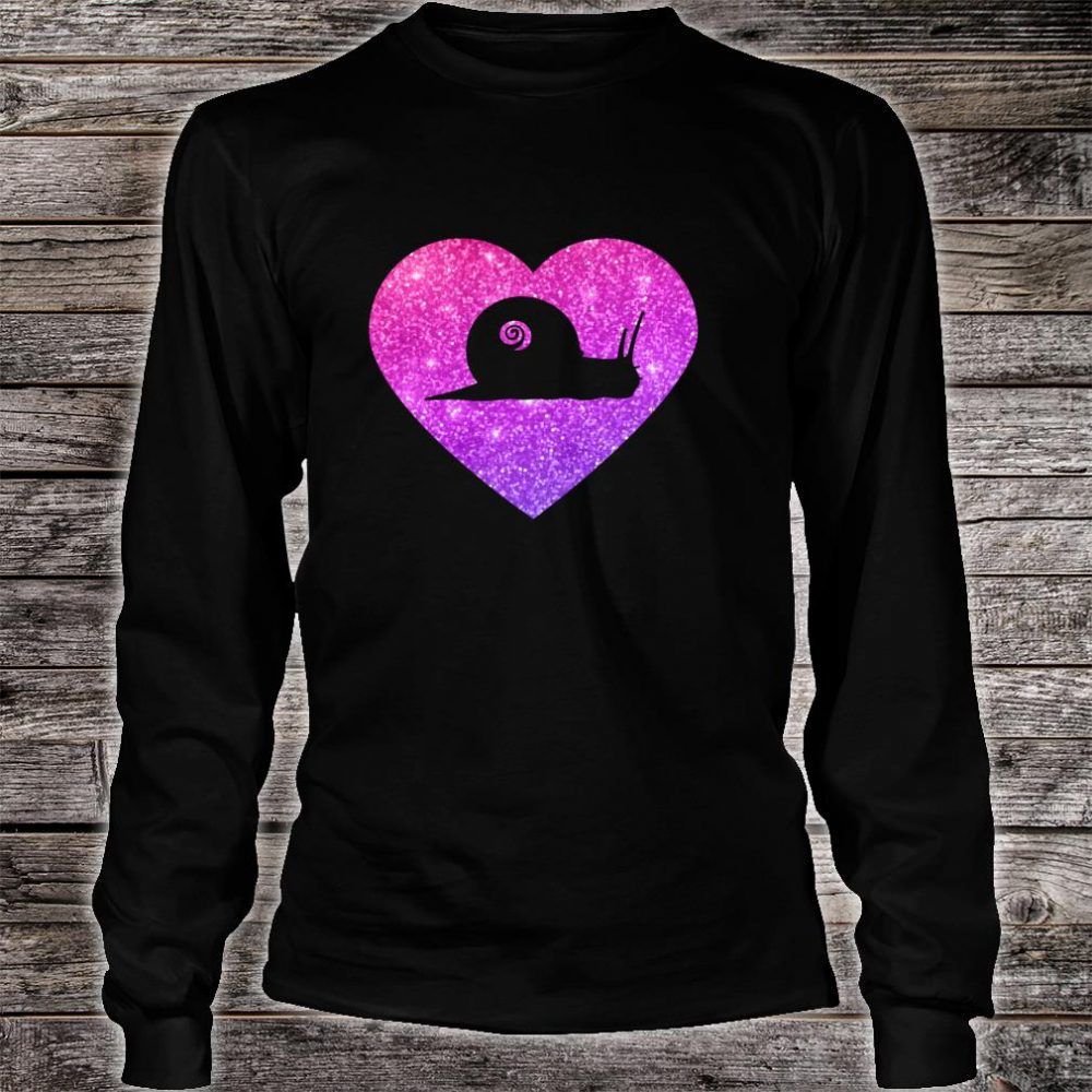 Cute Snail Heart For Girlsns And Shirt long sleeved