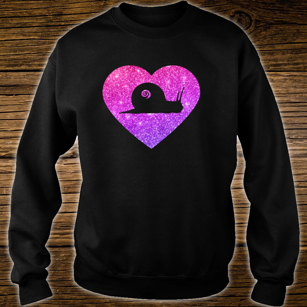 Cute Snail Heart For Girlsns And Shirt sweater