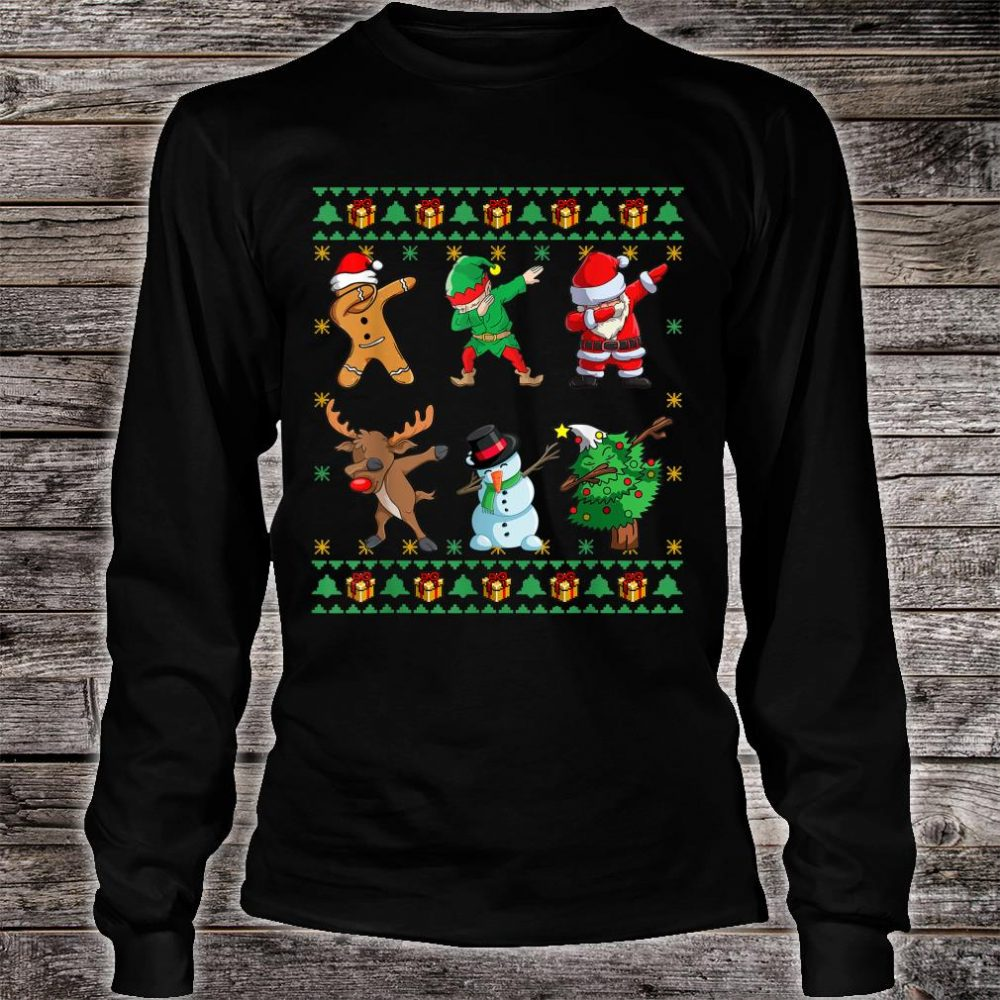 Dabbing Santa Squad Christmas Ugly Xmas Shirt long sleeved
