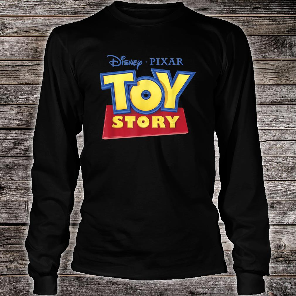 Disney Pixar Official TOY STORY Movie Logo Shirt long sleeved