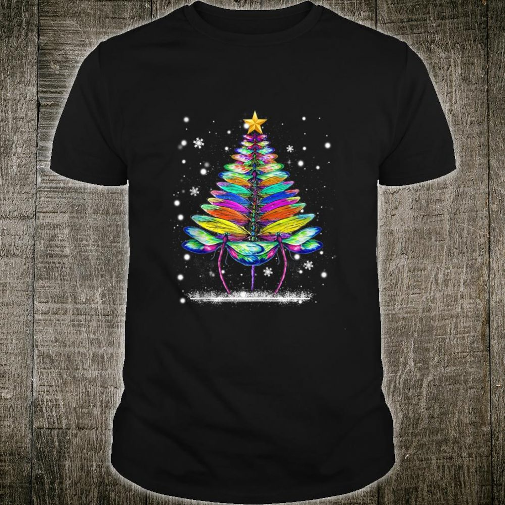 Dragonfly Christmas Tree For Dragonflys Shirt