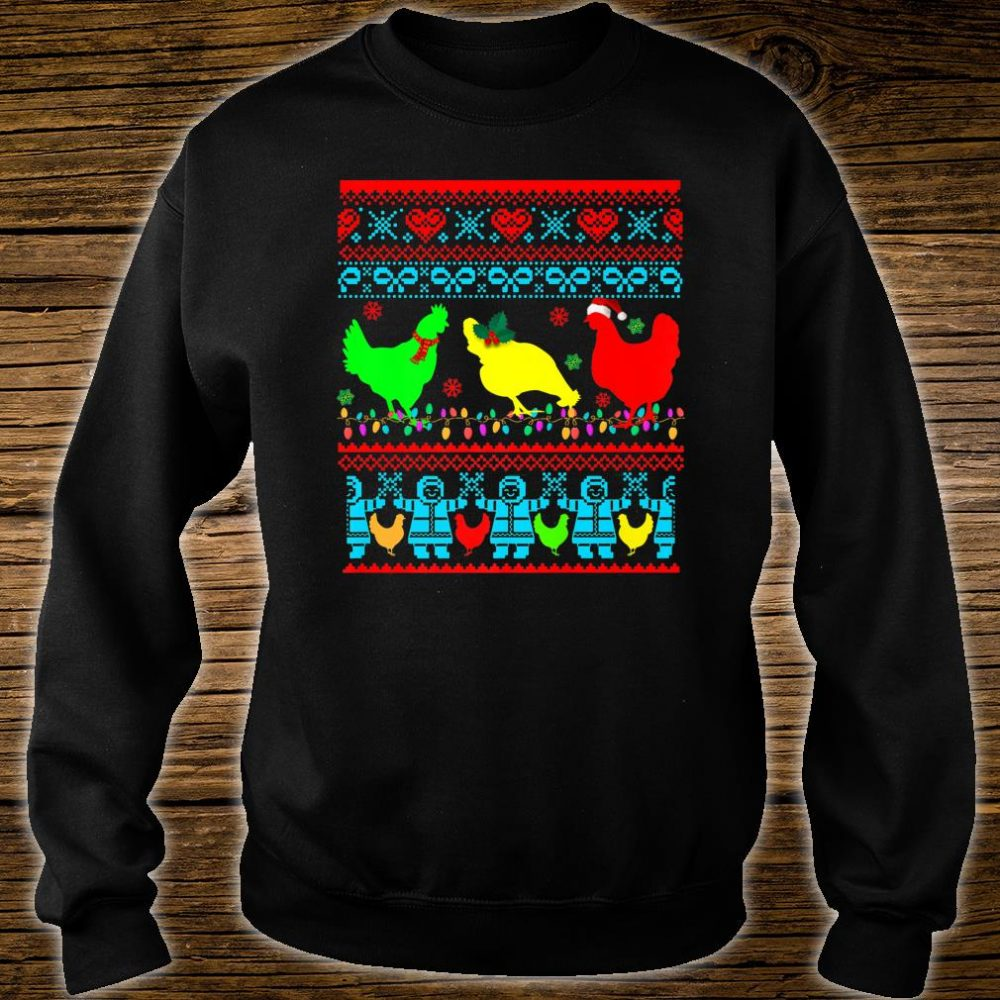 Farm Chicken Rooster Ugly Christmas Farmer Shirt sweater