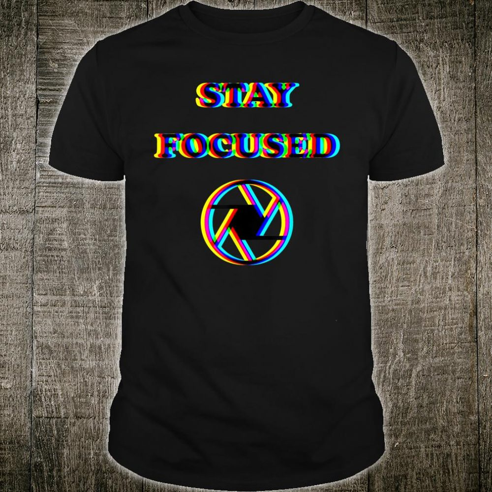 Focused Trippy Letters Optical Illusion Shirt