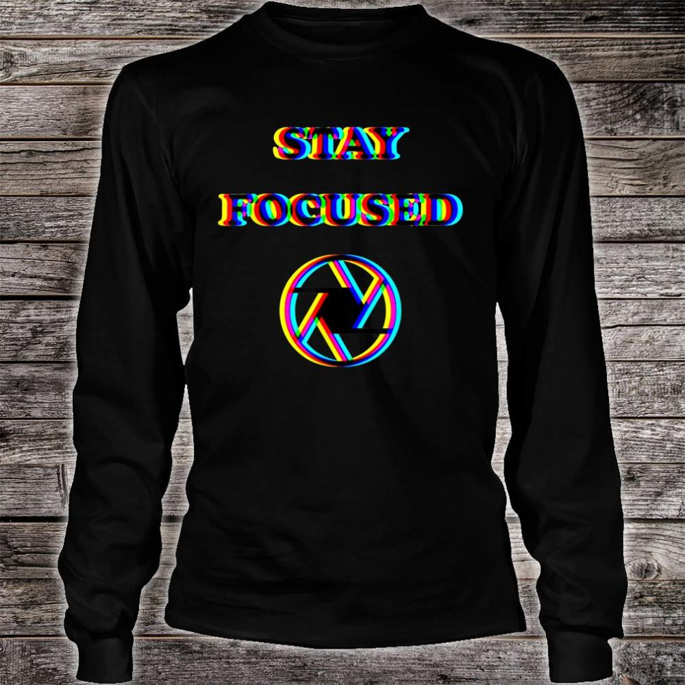 Focused Trippy Letters Optical Illusion Shirt long sleeved