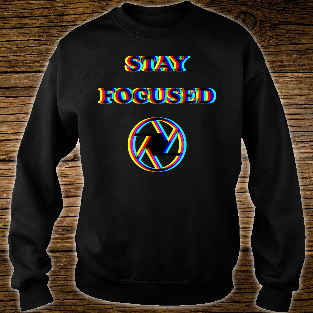Focused Trippy Letters Optical Illusion Shirt sweater