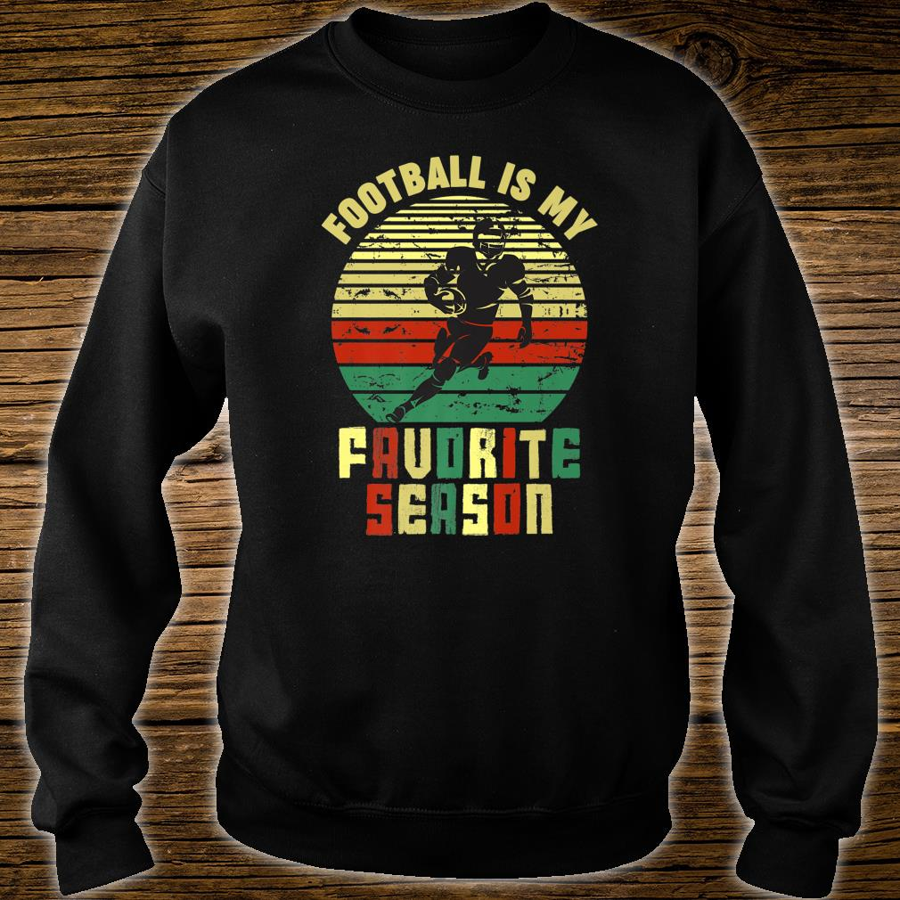 Football Is My Favorite Season Vintage Retro Sports Shirt sweater