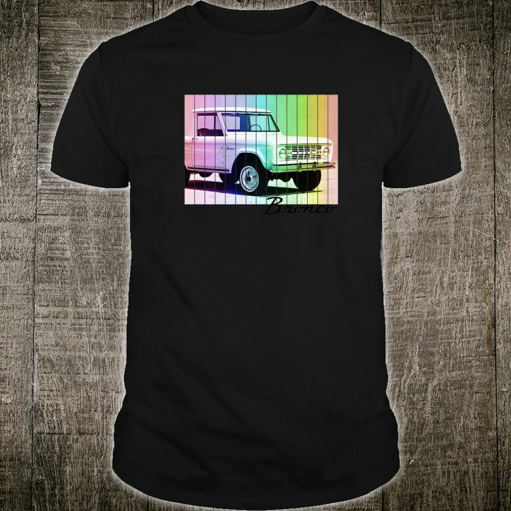 Ford Bronco Retro Rainbow Shirt