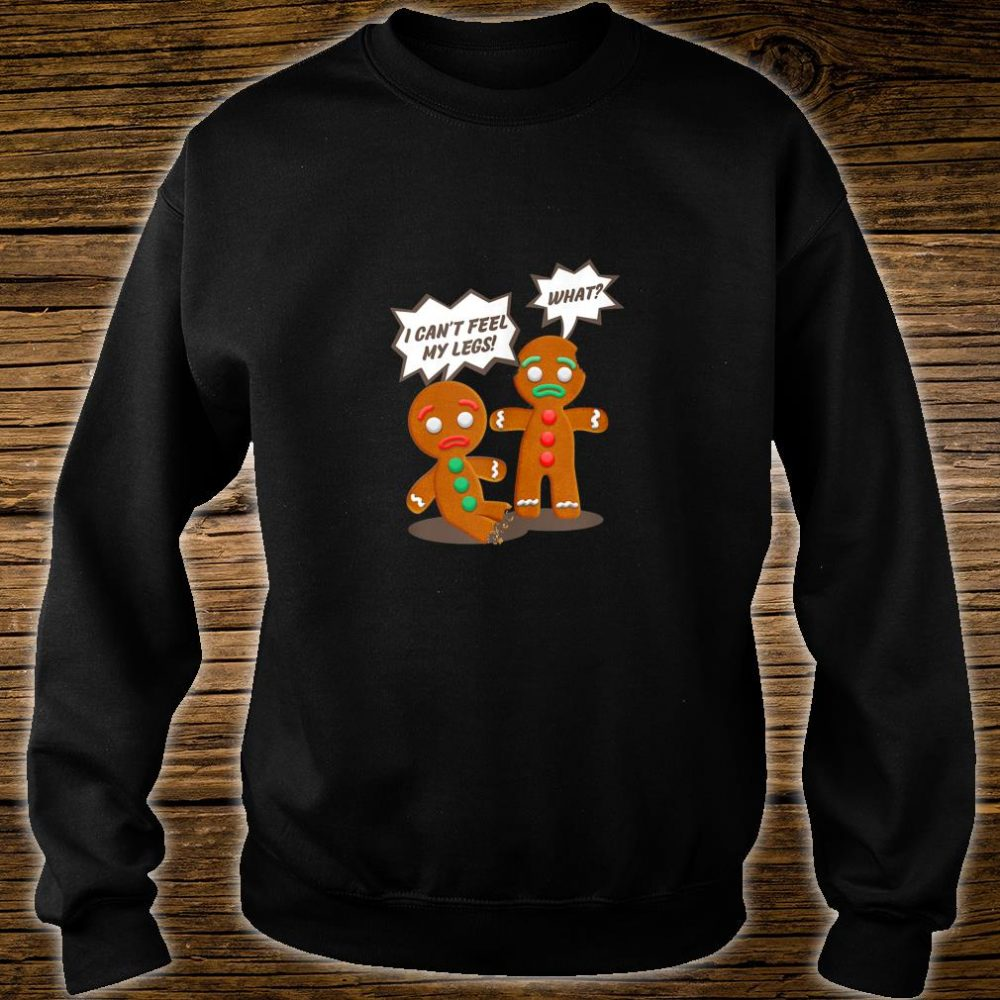 Funny Christmas Gingerbread Man Cookie Shirt sweater