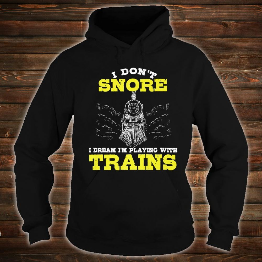 Funny Model Train Conductor Hobby Husband Enthusiast Shirt hoodie