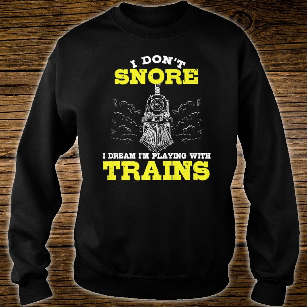 Funny Model Train Conductor Hobby Husband Enthusiast Shirt sweater