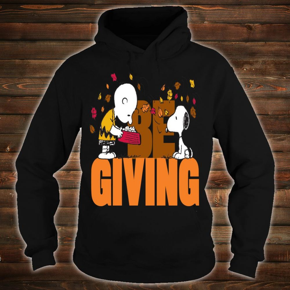 Funny Peanuts Snoopy Woodstock Thanksgiving Shirt hoodie
